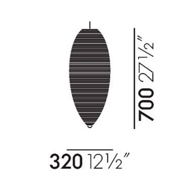 Lámpara Akari 23A Vitra medidas
