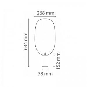 Lámpara Serena LED Flos medidas