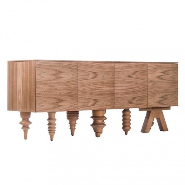 Multileg cabinet showtime versión nogal de BD Barcelona en Moses Showroom