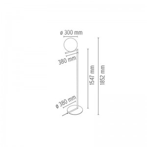 Lámpara IC F2 Flos medidas