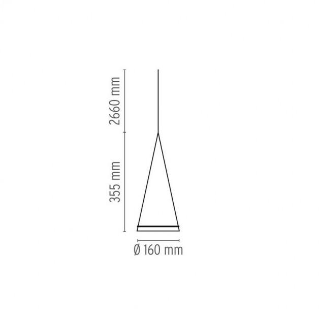 Lámpara Fucsia 1 Flos medidas