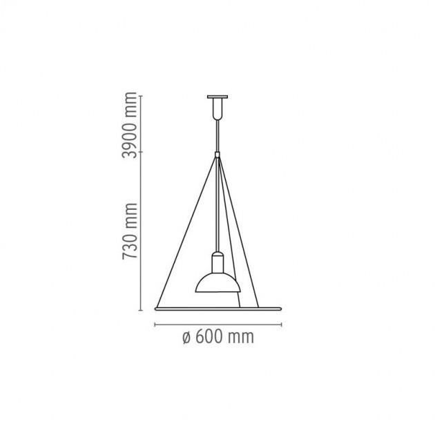 Lámpara Frisbi suspensión Flos medidas