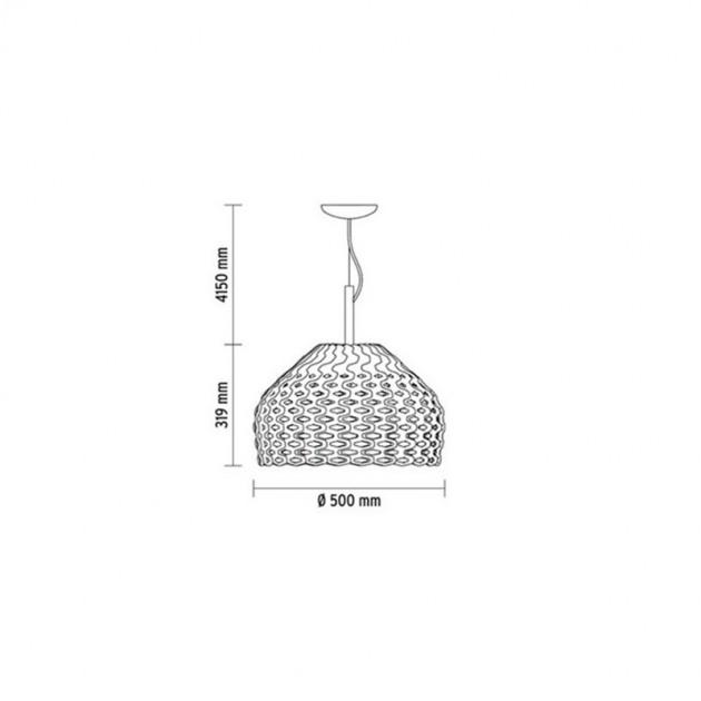 Lámpara Tatou S2 suspensión Flos medidas