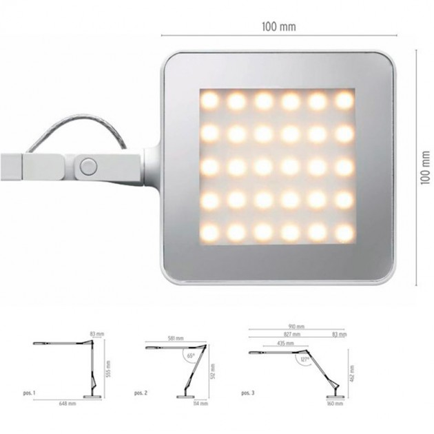 Lámpara Kelvin Led Base Flos medidas