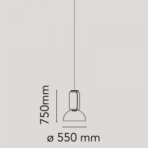 Noctambule Suspension 1 Low Cylinder and Bowl Flos medidas