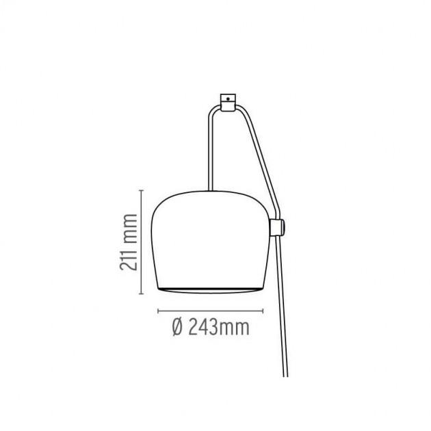 Lámpara AIM cable + plug Flos medidas