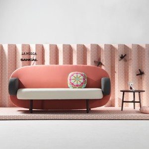 Sofá Float de Karim Rashid para Sancal en Moises Showroom