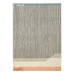 Alfombra Kilim Backstitch Calm color ladrillo de Gan Rugs en Moises Showroom.