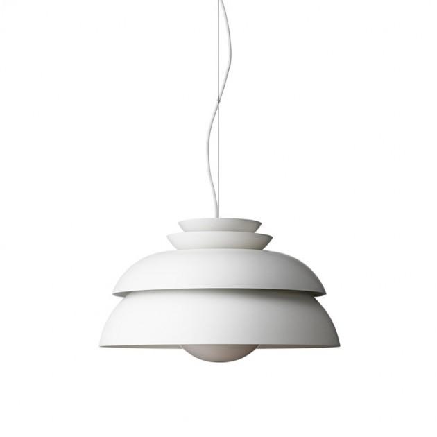 Lámpara de suspensión Concert p1 de Fritz Hansen color blanco