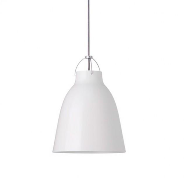 Lámpara Caravaggio P2 color blanco cordón gris Fritz Hansen