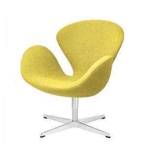 Butaca Swan en tapicería Fame amarillo en Moises Showroom
