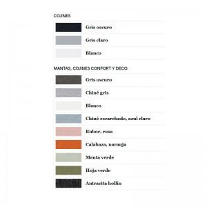 Colores accesorios para Sofá de esquina Walrus de extremis disponible en Moisés Showroom