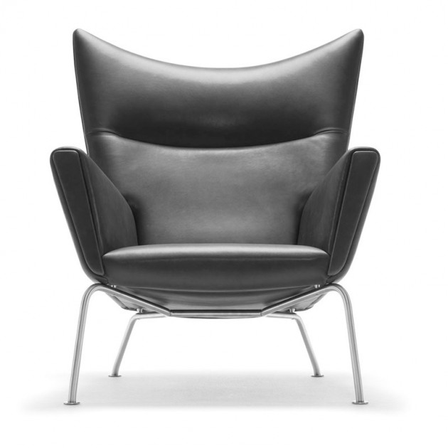 Comprar sillón wing chair carl Hansen en piel. Disponible en Moisés showroom