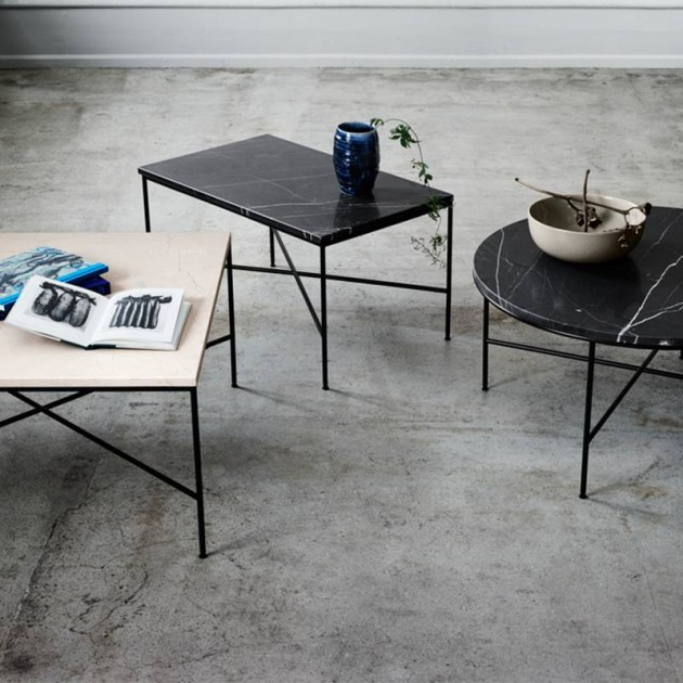 Ambiente Mesas de centro Planner de Mármol de Fritz Hansen en Moises Showroom