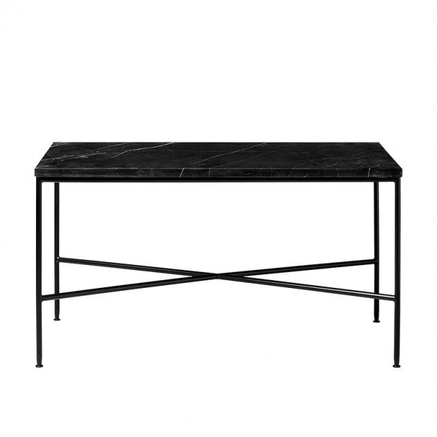 Mesa de centro Planner rectangular de Mármol carbón de Fritz Hansen