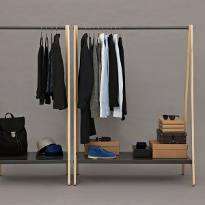 Ambiente con Toj Clothes Rack color negro de Normann Copenhagen