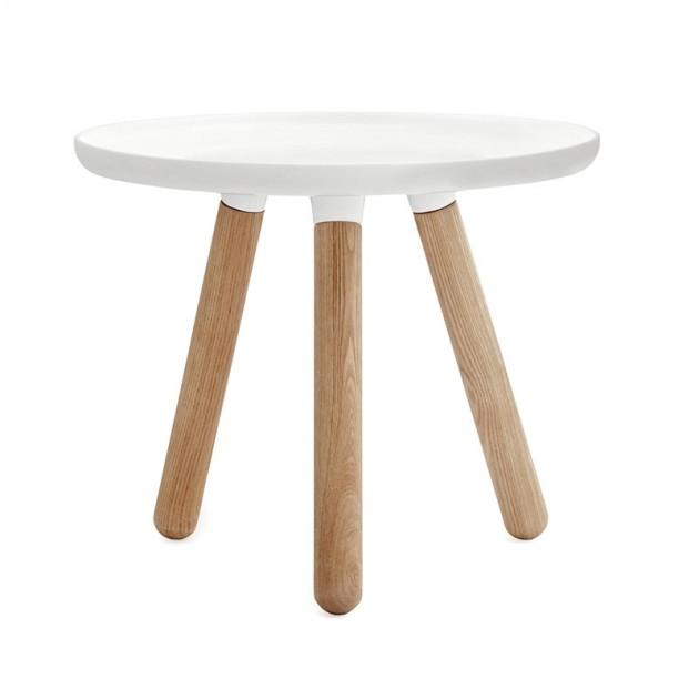 Comprar mesa Tablo pequeña color blanco patas fresno de Normann copenhagen