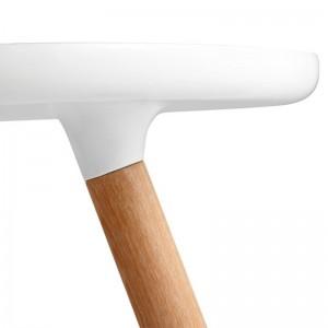 detalle pata fresno mesa Tablo pequeña color blanco de Normann copenhagen