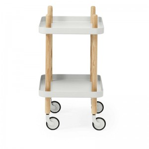 perfil Carrito Block Table color gris claro de Normann Copenhagen.