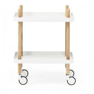 comprar Carrito Block Table color blanco patas fresno de Normann Copenhagen.