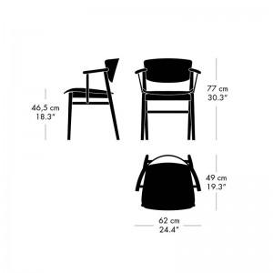Medidas silla N01 de Fritz Hansen en Moises Showroom