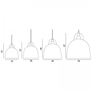 dimensiones lámpara Bell de Normann Copenhagen