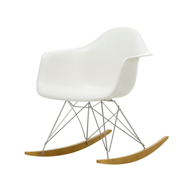Silla mecedora RAR blanco 04 de Vitra en Moises Showroom
