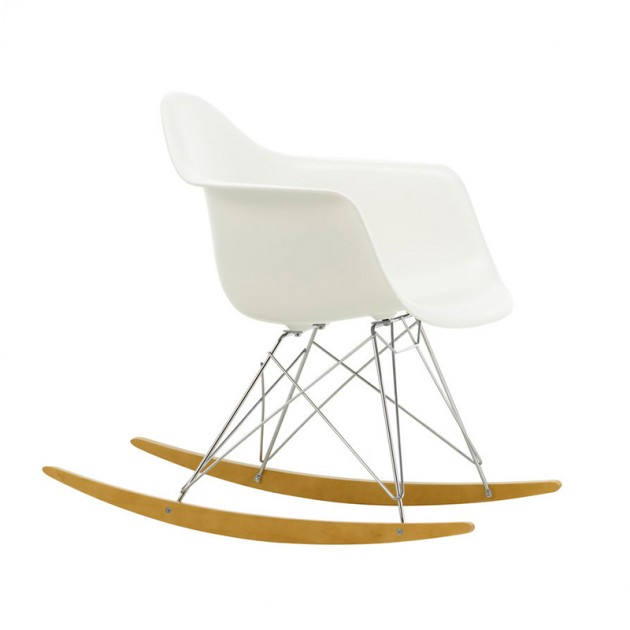 Silla mecedora RAR blanco de Vitra en Moises Showroom