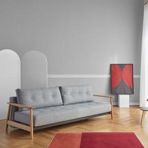 salón con Sofá cama Eluma deluxe button color 565 de Innovation living