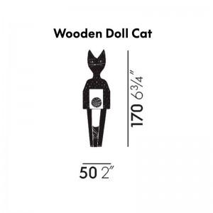 Wooden Dolls Cat pequeño medidas Vitra