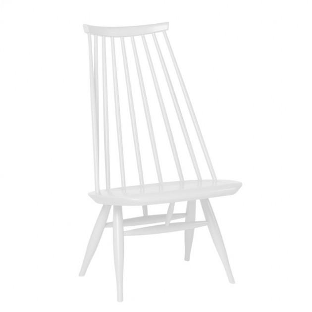Lounge chair Mademoiselle lacado blanco de Artek