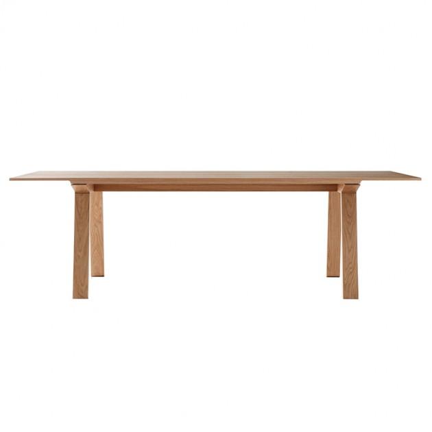 Mesa rectangular Mitis en roble medida 240 x 100 de Punto Mobles