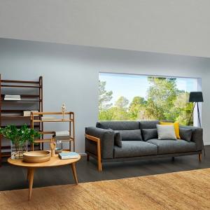 Sofá Time de Joquer gris en ambiente 1 en Moises Showroom