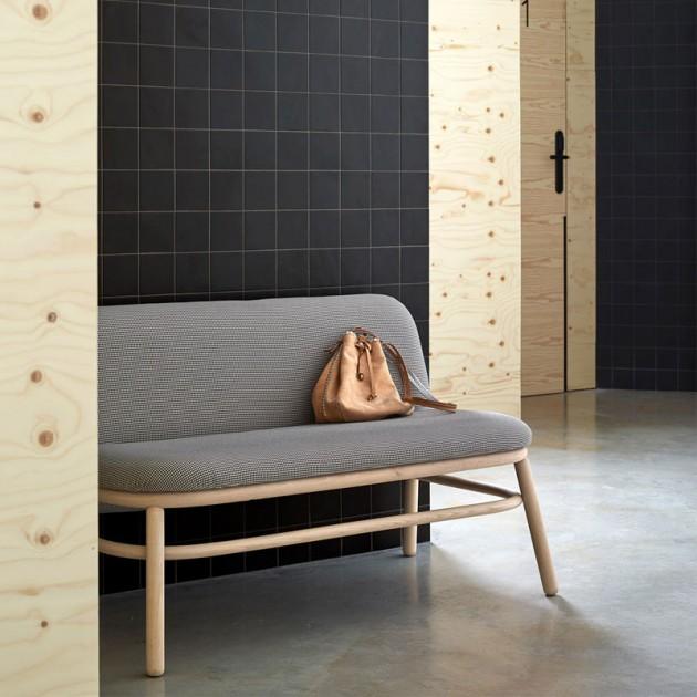 sofá lana respaldo bajo de Ondarreta en Moises Showroom