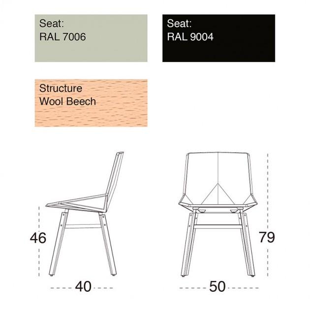 medidas y colores Silla Green patas madera Mobles 114