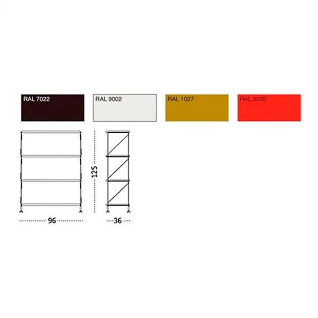 dimensiones y colores Estantería Mobles 114 Tria Pack de pie