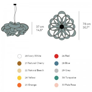 dimensiones y colores Lámpara AgathaSP de Luzifer