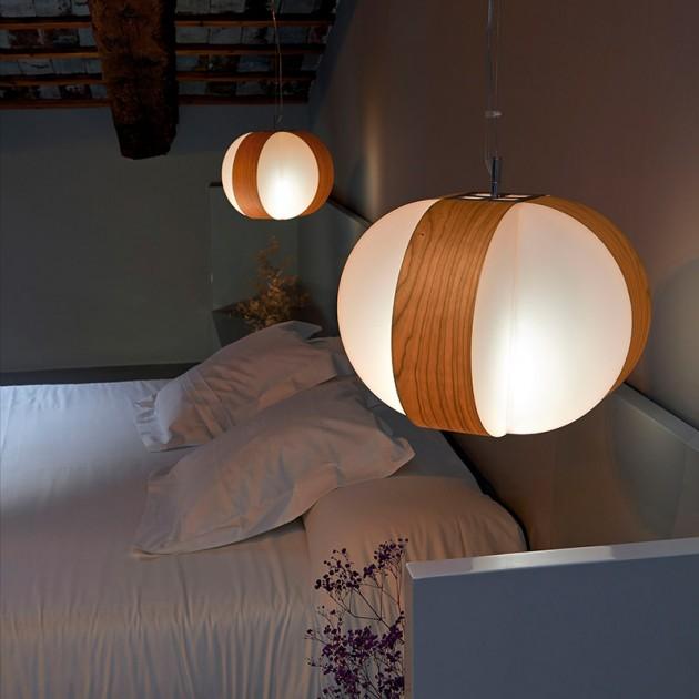 dormitorio con Lámpara Luzifer Carambola SM