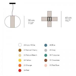 dimensiones y colores Lámpara Luzifer Carambola pequeña
