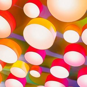 techo con Aplique Gea Luzifer de colores