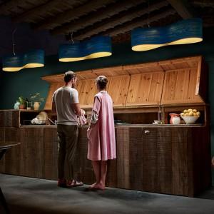 cocina Lámpara suspensión New Wave S azul