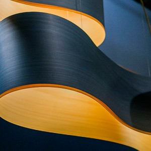 detalle Lámpara suspensión New Wave S azul