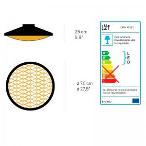 dimensiones y bombillas aplique cervantes Luzifer