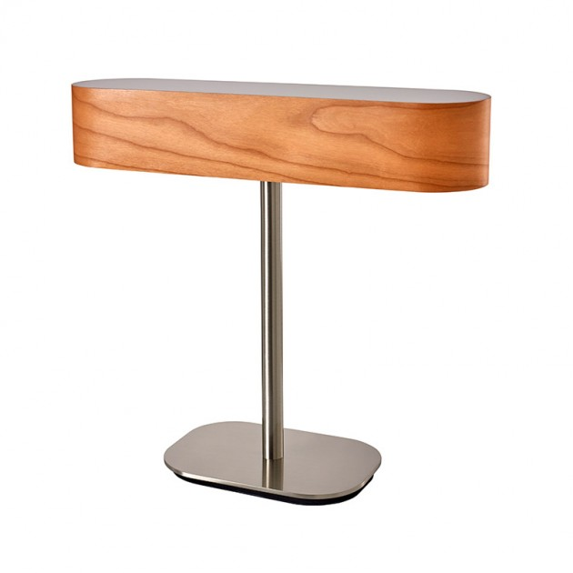 lámpara mesa I Club Luzifer natural cherry