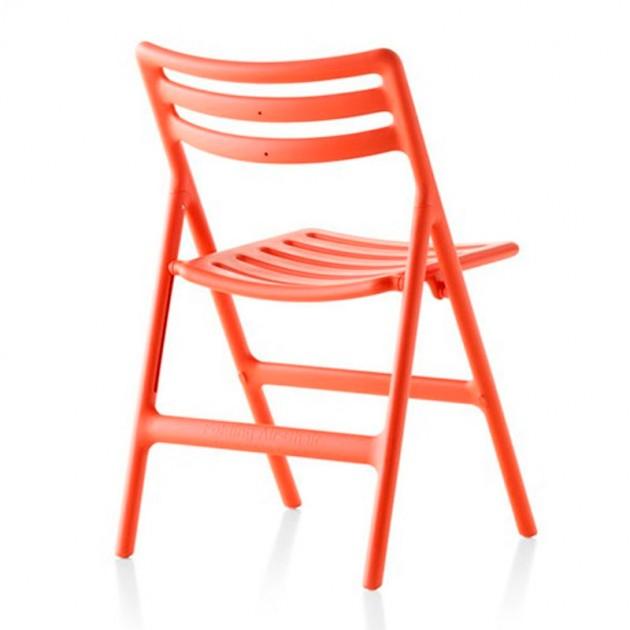 respaldo Silla Air plegable naranja de Magis