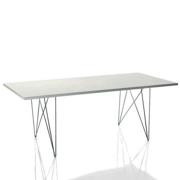 Mesa Tavolo XZ3 rectangular blanca patas cromo Magis