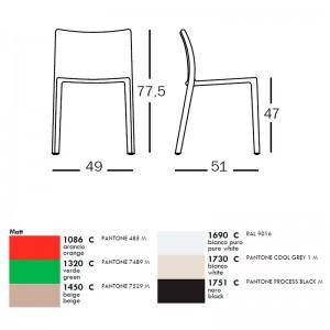 dimensiones y colores Silla Air Magis