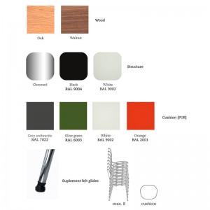 Materiales y acabados Silla Gràcia Mobles 114