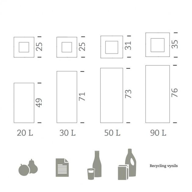 dimensiones Papelera Riga Basic Mobles 114
