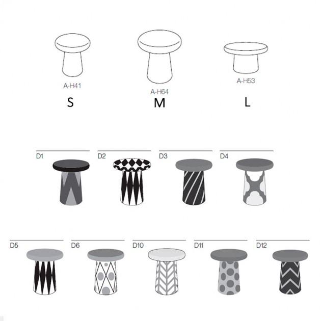 dimensiones y diseños Mesa auxiliar T Bosa